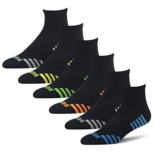 BERING Men's Athletic Ankle Compression Socks (6 Pack)