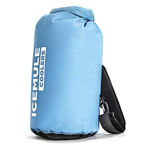 IceMule 1005 Classic Medium Collapsible Portable Soft Sided Roll Top 15 Liter 12 Can Lightweight Insulated Waterproof Leak Proof Backpack Cooler Sling Bag, for Hiking, Camping, Fishing, & Picnic