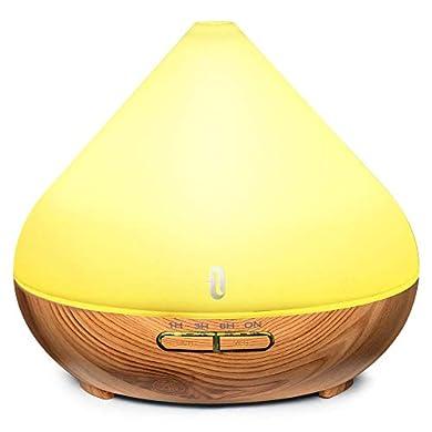 Foto di TaoTronics Diffusore di Aromi Ultrasuoni 300ML Vaporizzatore 7 Colori LED per Oli Essenziali, Purificatore Aria, Controllo per Vaporizzazione e Illuminazione, Timer e Auto Spegnimento