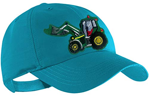 Blackshirt Company Traktor Schildmütze Kinder Base Cap Schlepper mit Frontlader Farbe Türkis