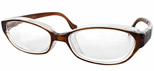 名古屋眼鏡 花粉メガネ 目立たない 曇らない おしゃれ スカッシー スタイル ブラウン レギュラー (NEW 曇り止めコート仕様) 8732-02
