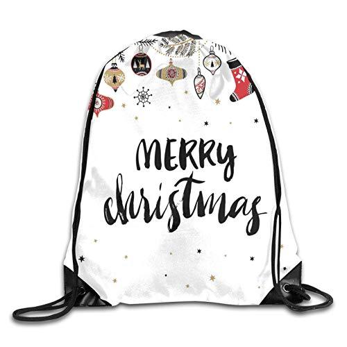 """Mochila con texto en inglés """"Merry Christmas"""", con texto en inglés """"Merry Christmas"""", diseño con texto en inglés """"Noel"""""""