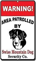 家のパブバーデコ壁の装飾ポスター警告エリアスイスマウンテンパトロールパトロールメタルの面白い警告サインプロパティ通知サインプラークの家の装飾