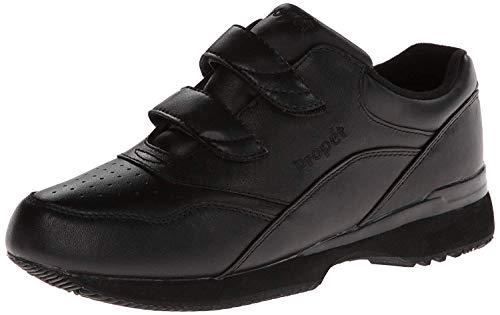 Propet Women's Tour Walker Strap Sneaker, Black, 9.5 Wide US