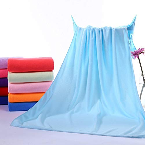 Toalla de baño de microfibra multiusos SWEEPID absorbente de secado rápido, toalla de playa, toalla de baño, toalla de baño, deportes, fitness, color azul cielo