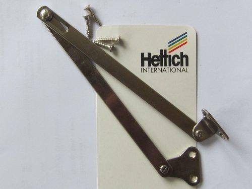 Hettich Klappenhalter, Klappenscharnier, Ganzmetall vernickelt, 250 mm, 2 Stück, Artikelnr. 00394
