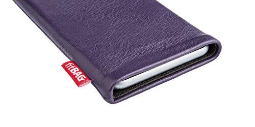 fitBAG Beat Lila Handytasche Tasche aus Echtleder Nappa mit Microfaserinnenfutter für Huawei Ascend Mate 2   Hülle mit Reinigungsfunktion   Made in Germany - 3