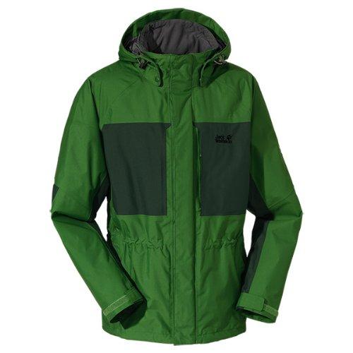Jack Wolfskin Herren Wetterschutzjacke Brooks Range Jacket Men, Ivy Green, XXL