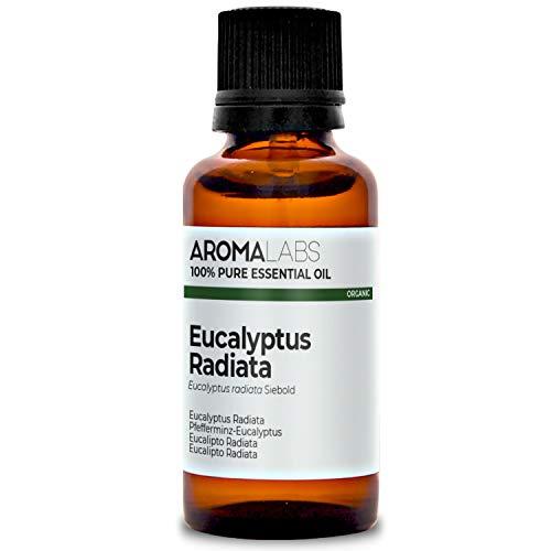 Eucalipto Radiata BIO - 30ml - Aceite esencial 100% natural y BIO - calidad verificada por cromatografía - Aroma Labs