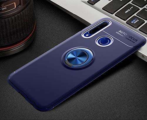 ZTH Funda de TPU a Prueba de Golpes for Huawei Honor 10i / 20i / Enjoy 9S, con Soporte Invisible (Negro + Negro) (Color : Blue+Blue)