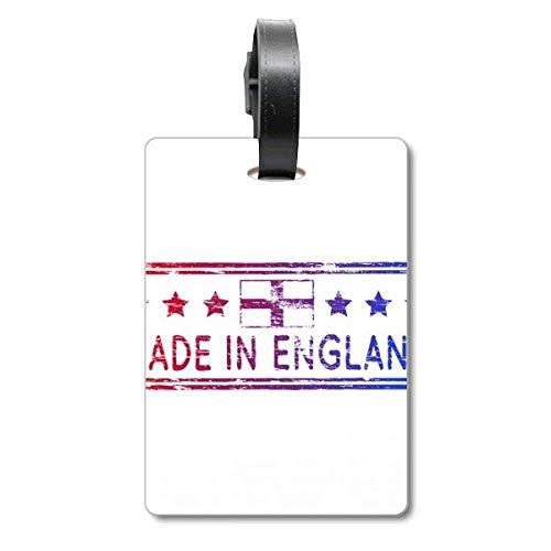Etiqueta de identificación para Maleta de Crucero con diseño de Bandera de Inglaterra