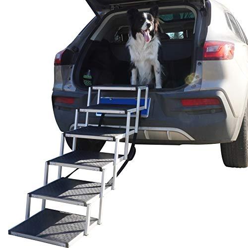 YEP HHO Escalera plegable para mascotas, 6 niveles, plegable, para coche, camión, todoterreno