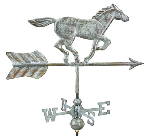 Good Directions 801V1R Horse Cottage Weathervane, Blue Verde Copper with Roof Mount