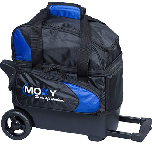 Moxy Candlepin Deluxe Bowlingtasche mit Rollen, Königsblau/Schwarz