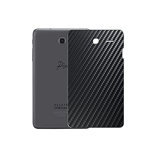VacFun 2 Piezas Protector de pantalla Posterior, compatible con Alcatel Pixi 3 7.0 3G 9002X 7', Película de Trasera de Fibra de carbono negra Skin Piel