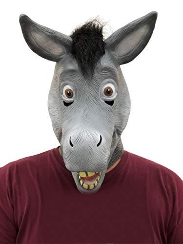 CosplayLife Shrek and Esel 100% Latex Masken Cosplay Halloween Kostüm Zubehör - Grau - Einheitsgröße