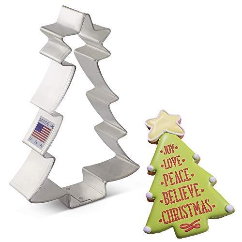 Formina per biscotti a forma di albero di natale con stella Ann Clark Cookie Cutters, 4,5''