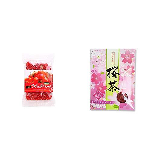 [2点セット] 収穫の朝 さくらんぼグラッセ ラム酒風味(180g)・桜茶(40g)