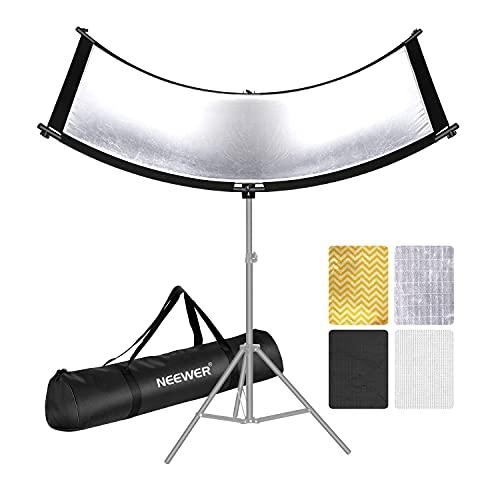 Neewer Muschelschale Lichtreflektor/Diffusor für Studio und Fotografie Situation mit Tragetasche 66×24 Zoll Arclight gebogen Lichtreflektor Augenlicht Reflektor für Fotografie