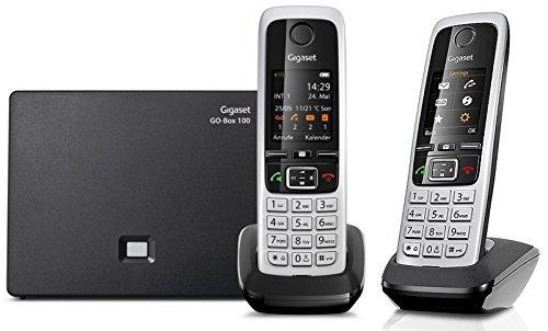 Gigaset C430A GO DUO Set mit 2 Mobilteilen, Hybrid-Dect-Schnurlostelefon (analog und VoIP (ALL-IP) mit Anrufbeantworter)