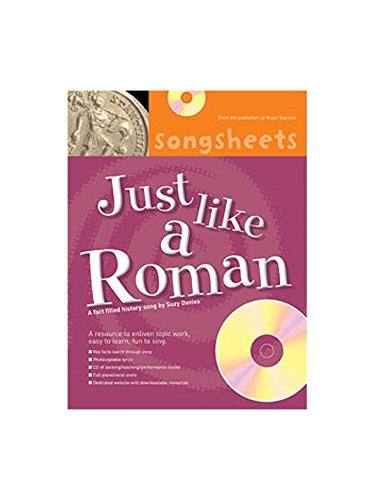 Geschiedenis Songsheets: Net als een Romein. Bladmuziek, CD voor stem, Piano begeleiding