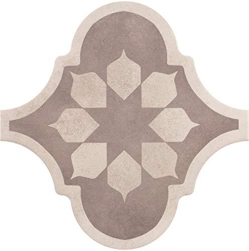 Nais - Baldosas cerámicas para suelos y paredes de interior - Colección Curvytile Factory - Color Blume Taupe (26,5x26,5 cm) - Caja de 1 m2 (25 piezas)