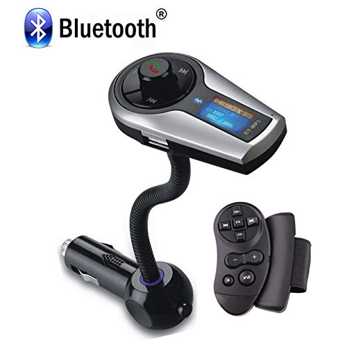 Clydekaoyan Bluetooth FM-zender LCD-ontvanger Bluetooth + sigarettenaansteker MP3 auto-functie infrarood afstandsbediening en Engels RF-technologie