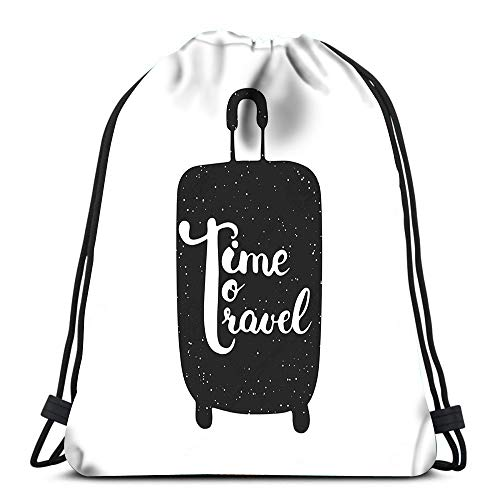 Gym Drawstring Backpack Sport Bag Hello Friday The Black Modern Call Lightweight Shoulder Bags Travel College Rucksack for Women Men