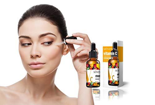 RK RAKAO Luxus Vitamin C Serum - Beauty Set - Gesichtspflege - Hautpflege und Anti Pickel Produkt - Anti Aging - spendet der Haut Feuchtigkeit - Skin Care - weniger Falten - Gesichtsserum - NATÜRLICH
