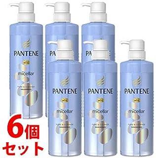 《セット販売》 P&G パンテーン ミセラーシリーズ ピュア&クレンズ シャンプー ポンプ (500mL)×6個セット ノンシリコン ミセラー