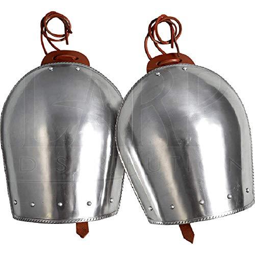 Cubrehombros de acero clsico medieval armadura de hombro disfraz de Halloween