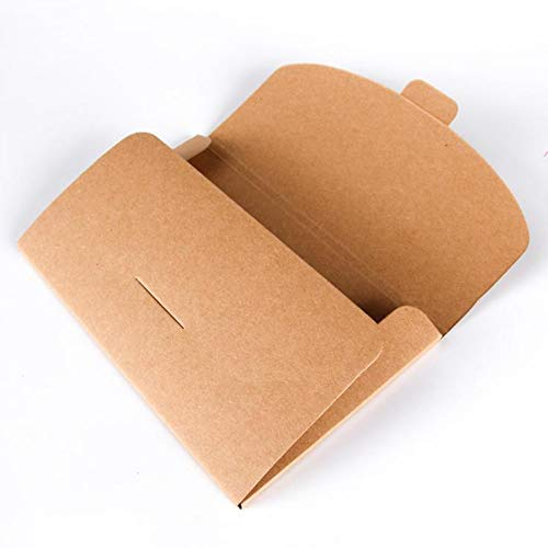 Youery 50 Braun quadratische Kraftpapier-Umschläge recycelte Kuverts Natur Vintage Kraftpapier Briefumschläge Braun Naturpapier Umschläge aus Ökopapier