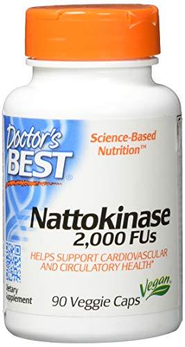 Doctor's Best, Nattokinase, 2000 FUs, 90 Vegetarische Kapseln, Das Original aus dem Japan BioScience Laboratory, ohne Vitamin K, Vegan, GMO-frei, NSK-SD