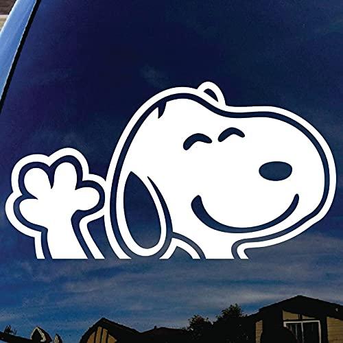 XIAMU Calcomanía Tallada de Snoopy de Dibujos Animados con Personalidad, Pegatinas Decorativas para refrigerador de Cuerpo de Cola de Coche Impermeable Lindo