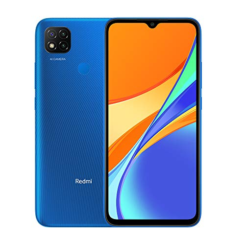 Xiaomi Redmi 9C Smartphone 3GB 64GB 6.53' HD+ Dot Drop display 5000mAh (typ) AI Face Unlock 13 MP AI Triple telecamera [Versione globale] Blu