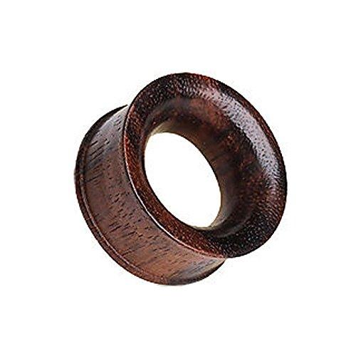 Gekko Body Jewellery Piercing Noir Bio d'Areng Plug Tunnel écarteur Double Fusées avec 8 mm