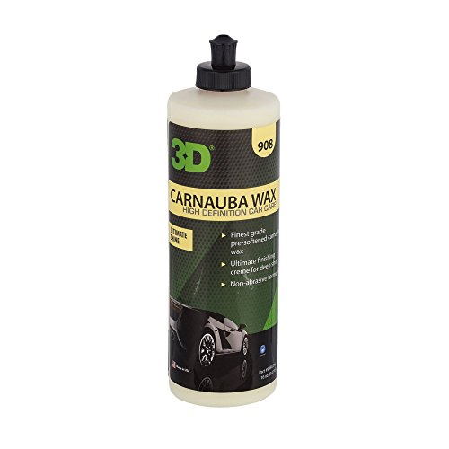 3D Carnauba Wax - 16 oz.   Ultimate Protection & Deep Shine   Easy to Apply   Safe for Clear Coat & Conventional Paint Surfaces   Made in USA   All Natural   No Harmful Chemicals