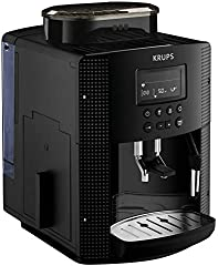 Krups Pisa EA81P0 - Cafetera súper automática, 15 bares, molinillo café cónico de metal, selección de cantidad e intensidad de café, depósito 1.7 L , Función automática vapor, pantalla LCD