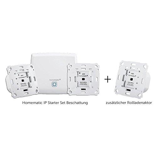 Homematic IP Smart Home Starter Set Beschattung + Rollladenaktor, intelligente Steuerung von Rollläden und Markisen, auch per kostenloser App