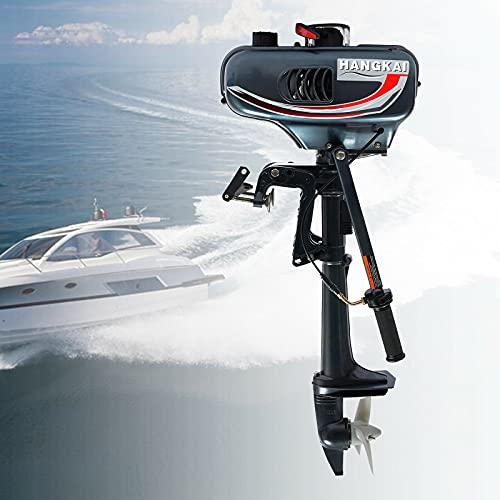 Außenbordmotor Benzin 3.5PS - Elektromotor Bootsmotor 2-Takt Aussenborder Motor Wasserkühlung für Boot Schlauchboot Kajaks