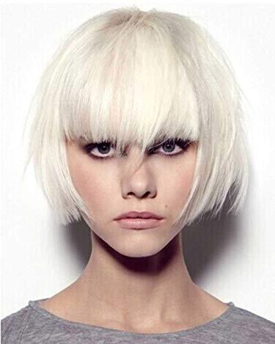 Tsnomore Perruque coupe courte, droite, pour femme, en fibres Kanekalon