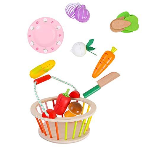 Swide Alimentos De Juguete De Maderas Magnéticas Cortar Frutas Verduras Temprano Desarrollo Educación Niños Bebé Juegos para Cocinar, Regalos para Cumpleaños Infantiles Expert