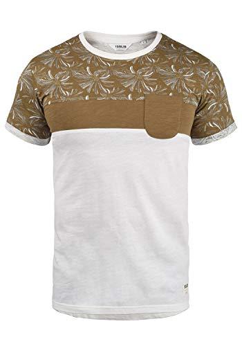 !Solid Florian Herren T-Shirt Kurzarm Shirt Rundhals-Ausschnitt aus 100% Baumwolle Meliert, Größe:L, Farbe:Ermine (5944)