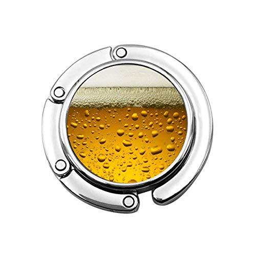 Geldbörse Haken Bier Wallpaper Print Charm Geldbörse Handtasche Tisch Schreibtisch Tasche Haken - Hakenhalter