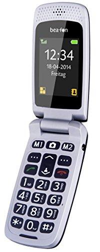 Beafon SL560_EU001BS Großtastenhandy (TFT-Display, Bluetooth, SOS-Notruftaste, Kamera, FM-Radio) schwarz-Silber