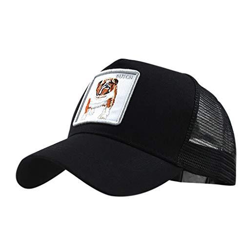 SicongHT_hat Unisex al aire libre de algodón animal bordado gorras de béisbol transpirable espalda malla de golf sombrero de tenis para señoras hombres mujeres