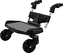 Fits different styles of strollers; joggers, prams, and umbrella strollers. Fits most strollers - check measurements for limitations. Full Suspension. No adaptors needed For ages 2 to 5 years. Contact the manufacturer, if you need confirmation that t...