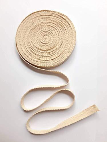 Cinta de sarga de algodón de 10 mm x 10 yardas, tela de algodón para costura, manualidades, envolver regalos, decoración del hogar, cinta de espiga para costura, costura,...