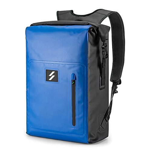 Storage Container, Tangpingsi 25L Large Capacity PVC Backpack Roll Top Waterproof Dry Bag Knapsack for Cycling