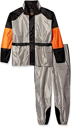 NexGen Men's Rain Suit (Black/Silver, 5X-Large)